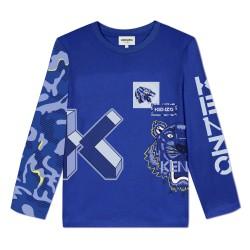 Kenzo electric blue long sleeve t-shirt