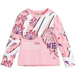 Kenzo Girls pink Cotton Top