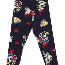 Monnalisa Navy Floral Leggings