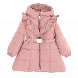 Monnalisa dusty pink coat