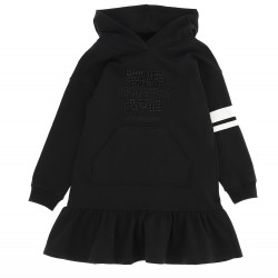 Monnalisa black hooded dress