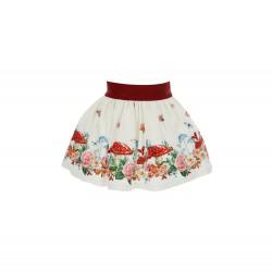 Monnalisa cream Fairy Woods skirt