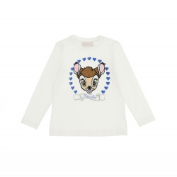 Monnalisa cream long sleeve t-shirt