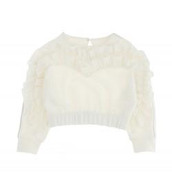 Monnalisa cream sweater