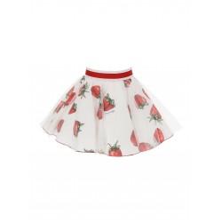 Monnalisa white strawberry skirt