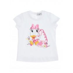 Monnalisa white Daisy Duck t-shirt