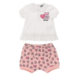 Moschino frill t-shirt and teddy shorts