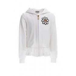 Moschino white hooded sweatshirt