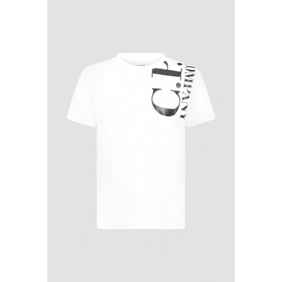CP Company white shoulder and back logo T-shirt