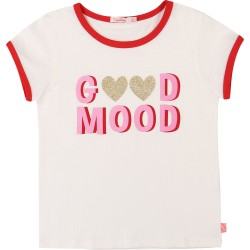 Billieblush Girls Ivory Cotton T-Shirt