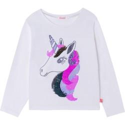 Billieblush Ivory Unicorn T-shirt