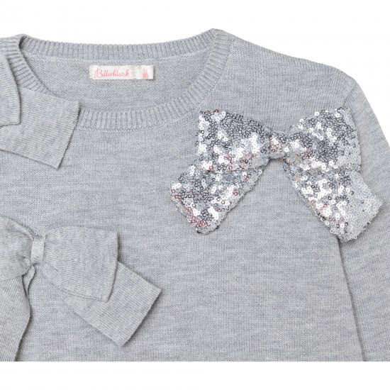 Billieblush grey fine knit jumper and skirt