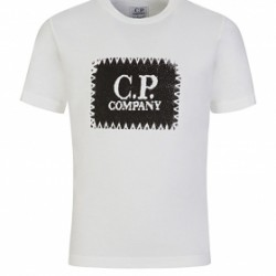 CP Company White square logo T-shirt
